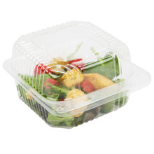 Wholesale Clear Hinged Lid Deep Plastic Takeout Salad Container, Bops Blister Clamshell Cake Packaging Box