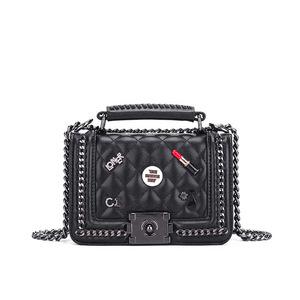 Korean style fashion lingge badges female crossbody bag for women shoulder handbags  wholesale 6aa9ff16e3