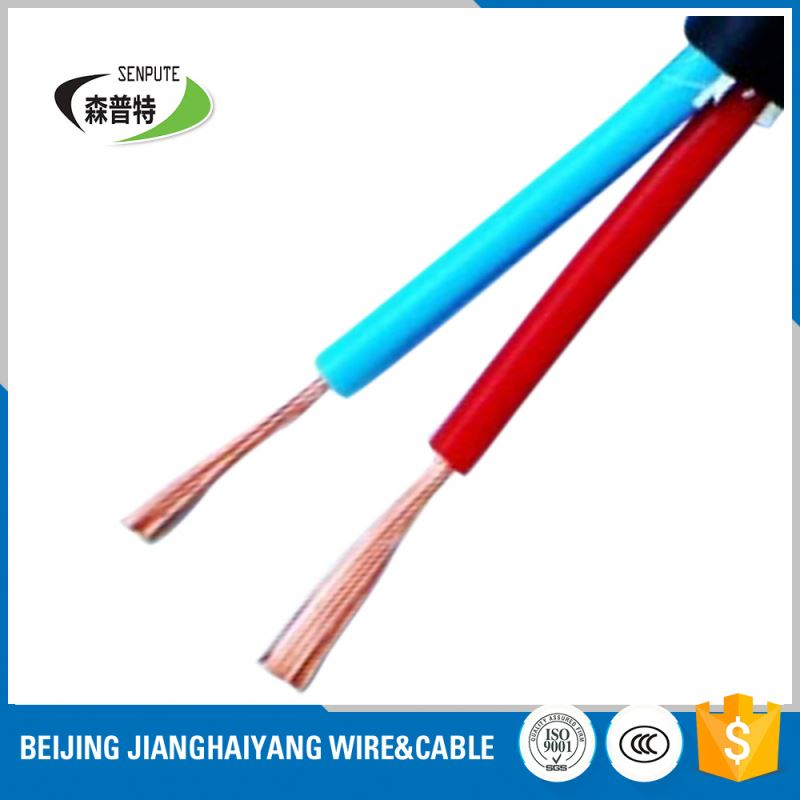 2 core flexible pvc round rvv wire power cable sheathed cord factory