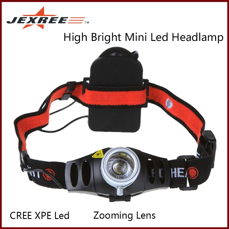 JEXREE TK37 Camping Caving Zooming Lens Waterproof IP54 XPE Led Mini Headlight