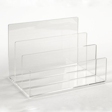 Desktop Acrylic File Sorter, Plastic Mail Magazines Books and letters Holder