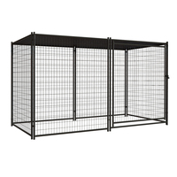 Wholesale low price large outdoor welded wire dog kennel/dog fence for sale