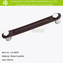 China manufacturer zinc alloy fancy leather cabinet handle Longterm hardware