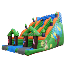 Top quality 0.55mm pvc material giant inflatable water slide for sale