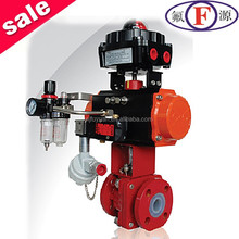 Use for chemical plants ductile iron pfa lined ball valve