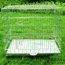 strong wire gauge foldable wire dog cage pet crate