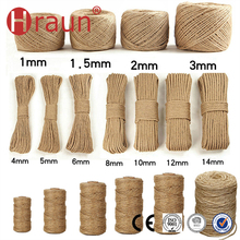 Custom OEM Color 100% Natural Hemp Jute Rope
