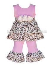 Baby Girls Boutique Outfits Wholesale Ruffle Clothing Set Kids Online Clothes Store 2pcs Suit Frock Design