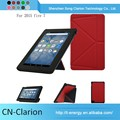New Popular Smart Cover Real Leather Phone Case Tablet Pc Case for fire 7 origami case