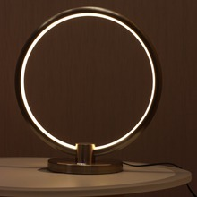 Medium size Circle Ring Sharp Hotel Besides Modern Led Decorative Table Lamps