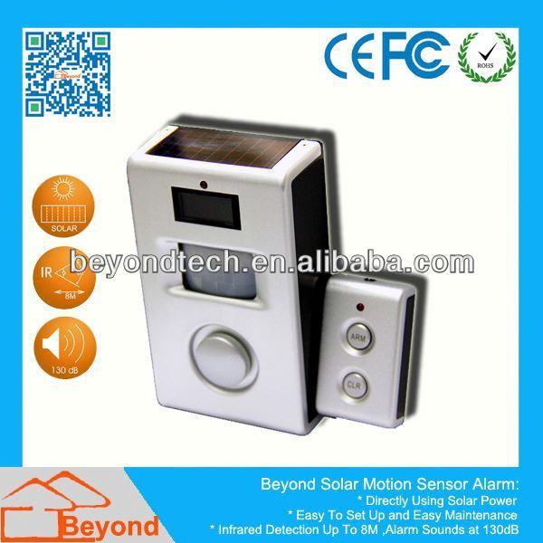 Countdown Timer Alarm Calculator Solar Motion Alarm with Remote Control,Solar Panel