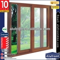 Australia standard europe style aluminum frosted glass wood composite sliding doors