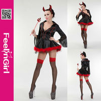 Wholesale women devil costumes sexy red hot devil costume