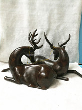 Hotsale PVC Lying Brown Deer High End Christmas Decorations