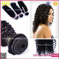 Tangle free beauty style kinky curly can dye color 530 virgin thailand hair weave in shanghai