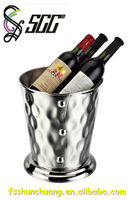 Gold/Silver/Red Rose Plated Stainless Steel Round Wine Bucket/Champagne Holder/Wine Stand for Hotel