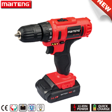 Two Speed 14.4V Electric Cordless Drill with Battery Capacity Indicator