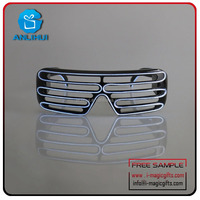 Light Up led glasses, Slotted Shades Sunglasses