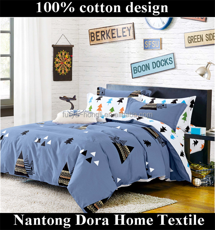 colorful pine tree Professional Bedding Sets Supply Wholesale Price Customize Luxury 100% Cotton Printed duvet cover