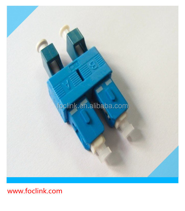 Fiber optic connector SC / LC 45 or 90 degree connector , SC / LC fiber adapter / coupler