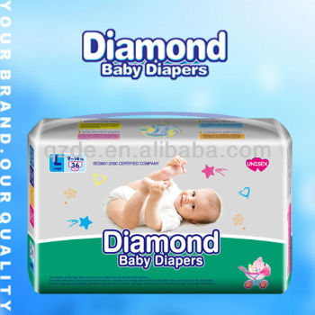 Breathable Soft Disposable Diamond Baby Diapers
