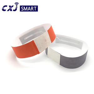 13.56mhz RFID disposable paper band Ntag213 nfc wristband/ultralight ev1 nfc passive bracelet