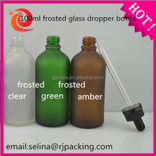 100ml frosted glass dropper bottle for e-juice glass bottle ship 12-24hours