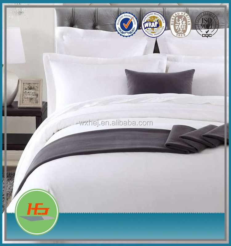 high quality 100% polyester single/twin/queen/king microfiber hotel bed sheet set