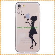 Trendy Painting Girl TPU Soft Cover Mobile Phone case for iphone 7 Case