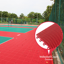 Cheap comfortable and high quality portable outdoor volleyball court sports flooring