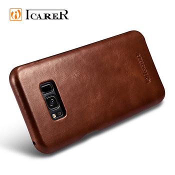 Hot Selling Real Cowhide Leather Phone Case for Samsung S8