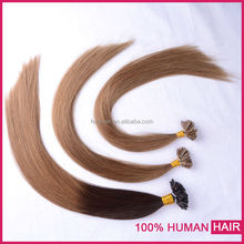Hot sold in hair market new type u-tip pre-boned human remy hair extension