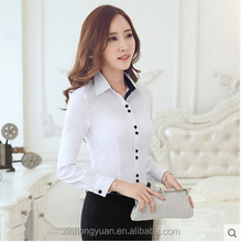 custom latest style fancy office ladies chiffon blouses