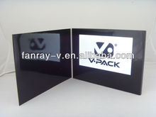 Popular A5 7inch lcd video greeting cards, video advertising brochure cards, video book
