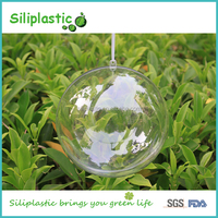 Clear Plastic 2 Part Baubles for Christmas Decoration
