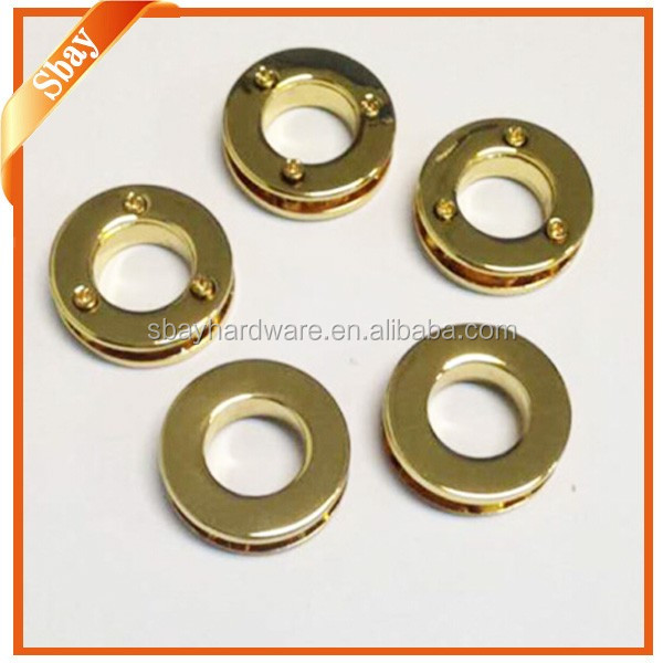 Gold hardware zinc alloy metal screws eyelets for leather and bags