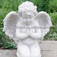 custom design polystone angel statue garden decoration wholesale