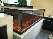 2 sided indoor fireplace electric with vivid flame effect