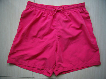 men's poly m/f twill swimming shorts plain color boardshort micro fiber beach shorts