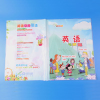 Clear hard plastic pvc book cover design