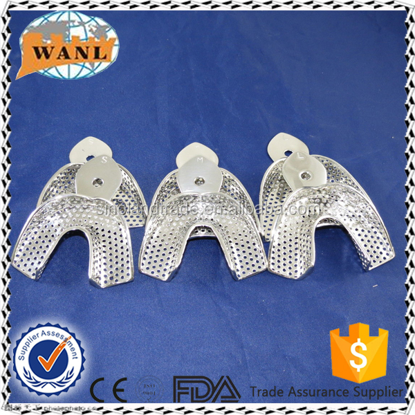 high quality reusabel stainless steel dental impression tray