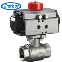 Accord with ISO5211 standard pneumatic stainless steel ball valves manufacturers