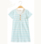 2017 New Arrival Baby Girl Short Sleeve Soft 100% Cotton Comfortable Stripped Pajamas And Night Dress