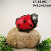 lawn decoration animal craft solar lawn light polyresin Ladybug garden lamp handmade craft resin Ladybug led garden light