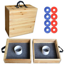 Premium Birch Wood Washer Toss Game for back yard Lawn and Beach Bumz washer box toss game
