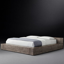 Luxury bedroom furniture king size solid wood bed