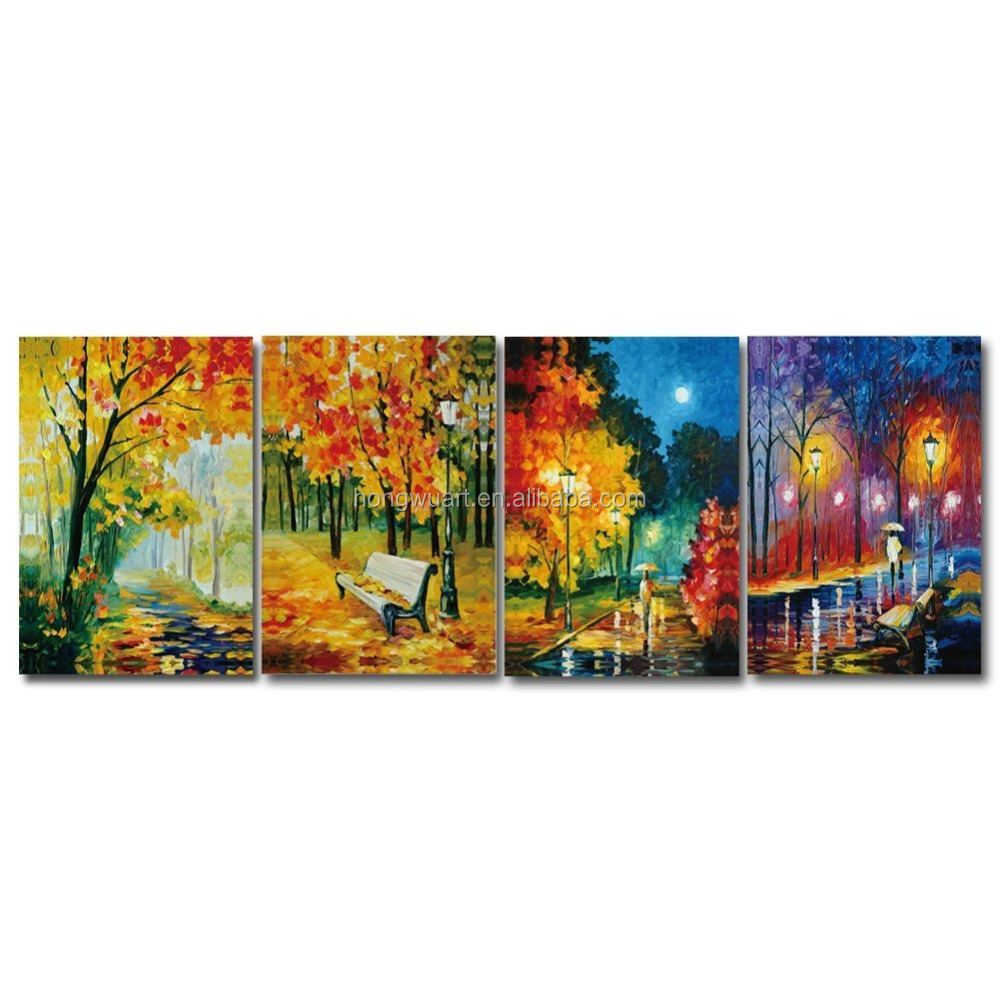 Beautiful Handmade Autumn Landscape Paintings Art on Canvas