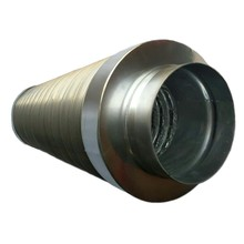 Heat recovery ventilation system Flexible aluminum duct silencer