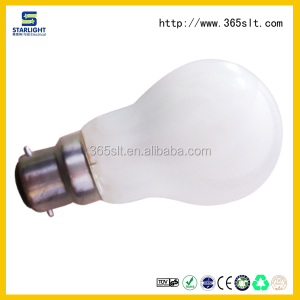 Light source indoor new product best quality clear frosted glass cover a60 led filament globe bulb