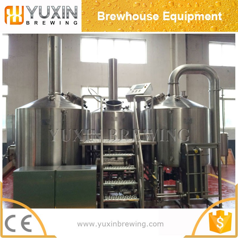 professional engineer design 1000L-5000L beer brewhouse with 3 vessels